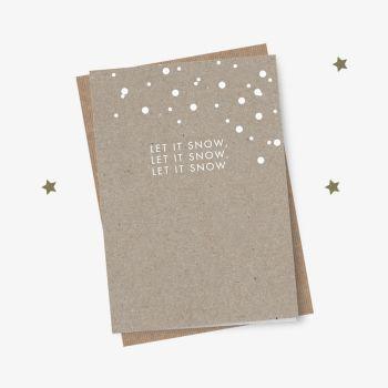 Eco Design Weihnachtskarte Let it snow