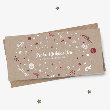 Eco Design Weihnachtskarte Weihnachtswunschkugel