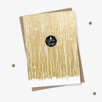Kreative Weihnachtskarte Lametta to go