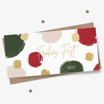 Neue Weihnachtskarte Dots Violett