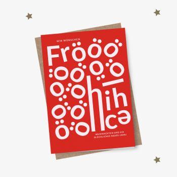 Neue Weihnachtskarte Fröööhliche Weihnachten