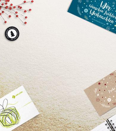 Gechäftliche Weihnachtskarten direkt vom Designer