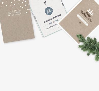 Eco Design Weihnachtskarten