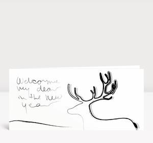 Neujahrskarte Welcome Year Dear