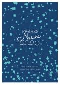 Neujahrskarte Boom! Blau 2020