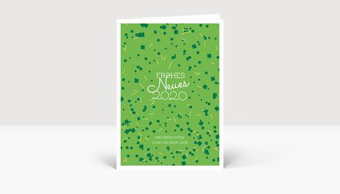 Neujahrskarte Boom! Grün