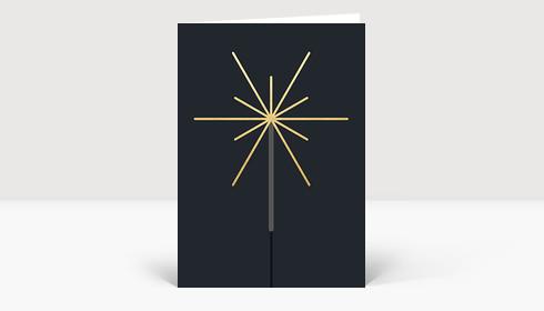 Neujahrskarte Wunderkerze
