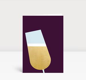 Neujahrskarte Champagner