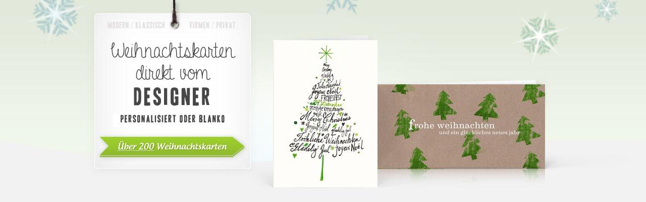 Designer weihnachtskarten weihnachtskarten direkt vom for Weihnachtskarten personalisiert