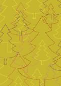 Weihnachtskarte Strahlende Weihnachtsbäume grün
