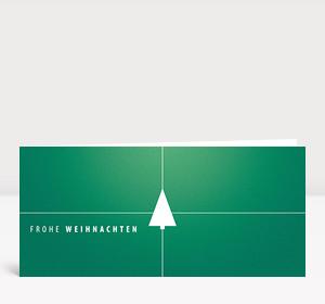 Weihnachtskarte Tannenbaum Geschenk grün