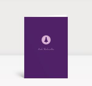 Weihnachtskarte Klein aber fein violett