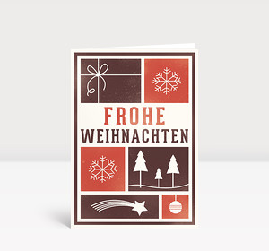 Weihnachtskarte Kacheln mit Weihnachtsmotiven
