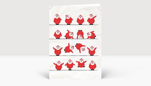 Weihnachtskarte Sporty Santa