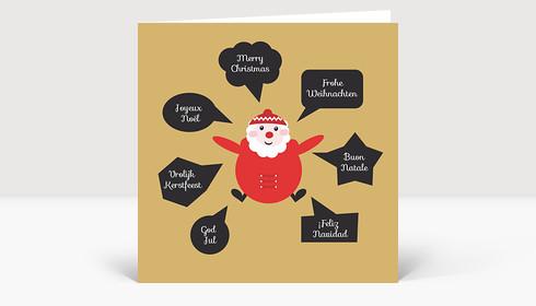 weihnachtskarte santa international. Black Bedroom Furniture Sets. Home Design Ideas