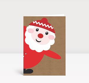 Weihnachtskarte Santa says hello