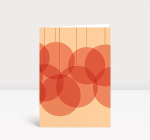 Weihnachtskarte Verschmelzende Kugeln rosa