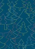 Weihnachtskarte Strahlende Weihnachtsbäume