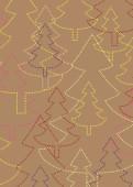 Weihnachtskarte Strahlende Weihnachtsbäume naturfarben