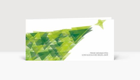 Weihnachtskarte Weihnachtsbaum Fragment grün