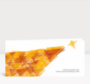 Weihnachtskarte Weihnachtsbaum Fragment orange