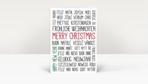 weihnachtskarte typo weihnachts und neujahrsgr e dk1388. Black Bedroom Furniture Sets. Home Design Ideas