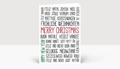 Weihnachtskarte Typo Weihnachts- und Neujahrsgrüße