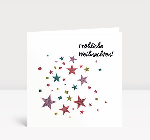 Weihnachtskarte Sternenstaub #1