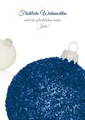 Weihnachtskarten hochformat designer weihnachtskarten - Weihnachtskugel englisch ...