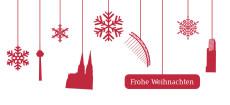 Weihnachtskarte Köln Flakes rot-weiß