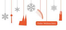 Weihnachtskarte Köln Flakes orange-weiß
