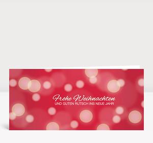 Weihnachtskarte Schneegestöber Rot
