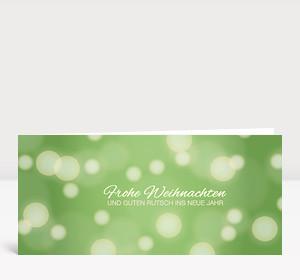 Weihnachtskarte Schneegestöber Grün