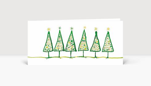 weihnachtskarte gezeichnete tannen international gr n. Black Bedroom Furniture Sets. Home Design Ideas