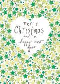 Weihnachtskarte Sternenherz grün