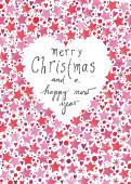 weihnachtskarte gemalte weihnachtsgr e englisch mit. Black Bedroom Furniture Sets. Home Design Ideas