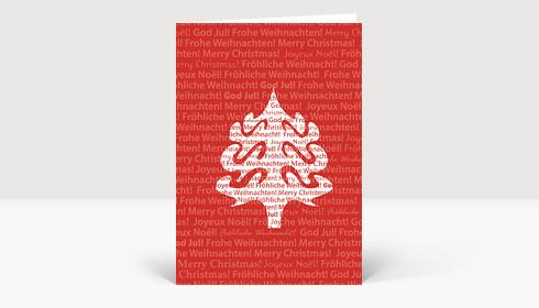 weihnachtskarte weihnachtsbaum silhouette international. Black Bedroom Furniture Sets. Home Design Ideas