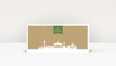 weihnachtskarte berlin auf karton gr n dk1645