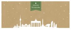 Weihnachtskarte Berlin auf Karton grün