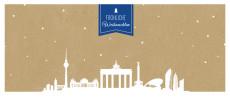 Weihnachtskarte Berlin auf Karton blau
