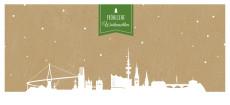 Weihnachtskarte Hamburg auf Karton grün