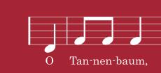 Weihnachtskarte O Tannenbaum Noten rot