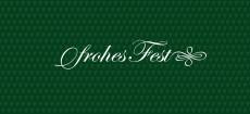 Weihnachtskarte Frohes Fest von Herzen grün