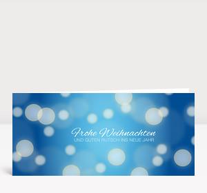 Weihnachtskarte Schneegestöber blau #2
