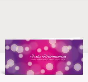 Weihnachtskarte Schneegestöber pink