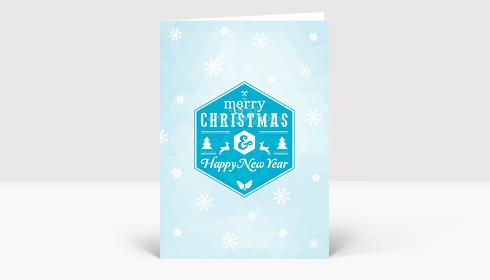 Weihnachtskarte Schneesterne moderne Weihnachtsgrüße