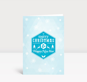 Weihnachtskarte Schneesterne moderne Grüße