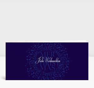 Weihnachtskarte Schneekugel blau