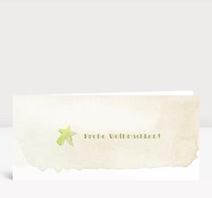 Weihnachtskarte Weihnachtsstern Aquarell in gelb
