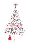 Weihnachtskarte International Weihnachtsbaum pink